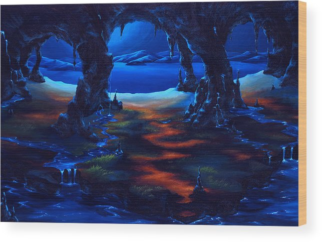 Textured Painting Wood Print featuring the painting Living Among Shadows by Jennifer McDuffie