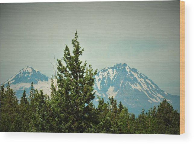 Mountains Wood Print featuring the photograph Mountains Of Oregon by Elizah Monai