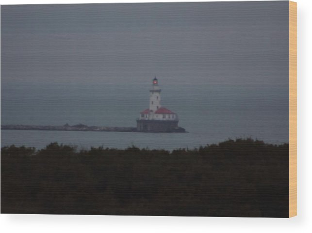 Lighthouse Wood Print featuring the photograph Navy Pier Lighthouse by Kenna Westerman