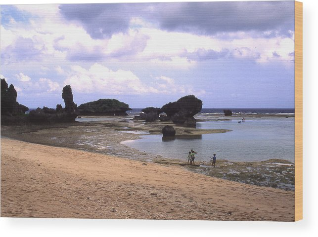 Okinawa Wood Print featuring the photograph Okinawa Beach 18 by Curtis J Neeley Jr