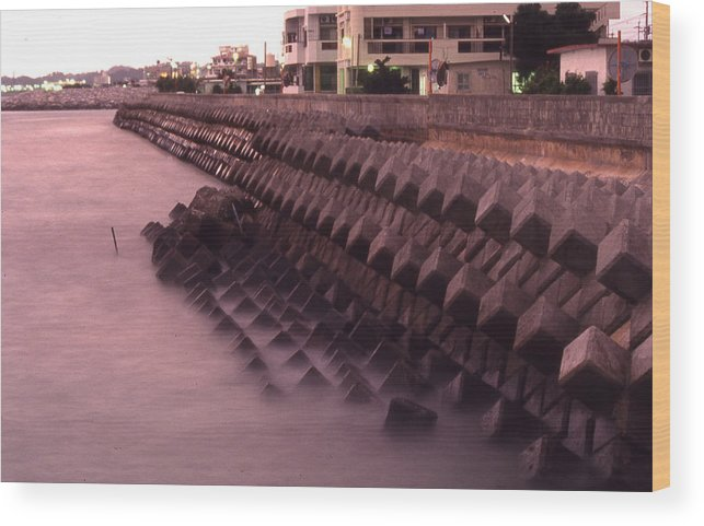 Okinawa Wood Print featuring the photograph Okinawa Waves by Curtis J Neeley Jr