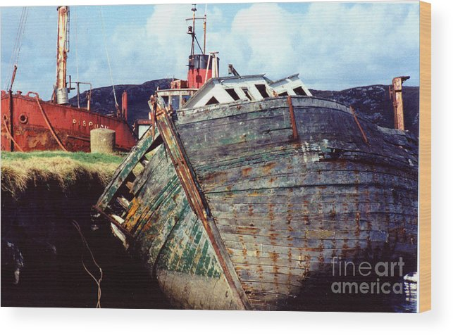 Old Boat Wood Print featuring the photograph Old Boat by PJ Cloud