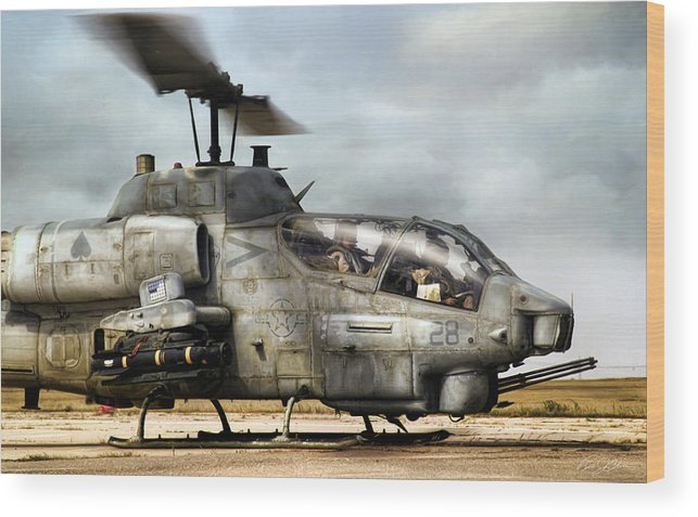 Aviation Wood Print featuring the digital art Ophidiophobia by Peter Chilelli