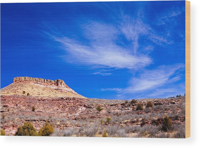 Red Wood Print featuring the photograph Outside Lyons Colorado by Marilyn Hunt