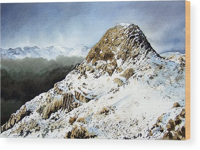 Pike O' Stickle Wood Print featuring the painting Pike O' Stickle by Paul Dene Marlor