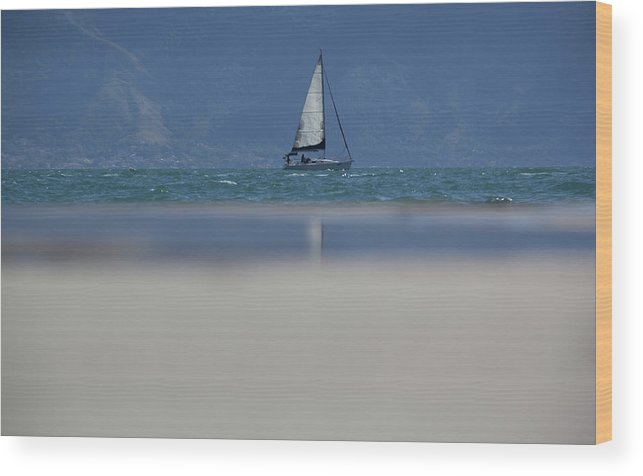 Sail Boat Wood Print featuring the photograph Sail Boat by James Conway