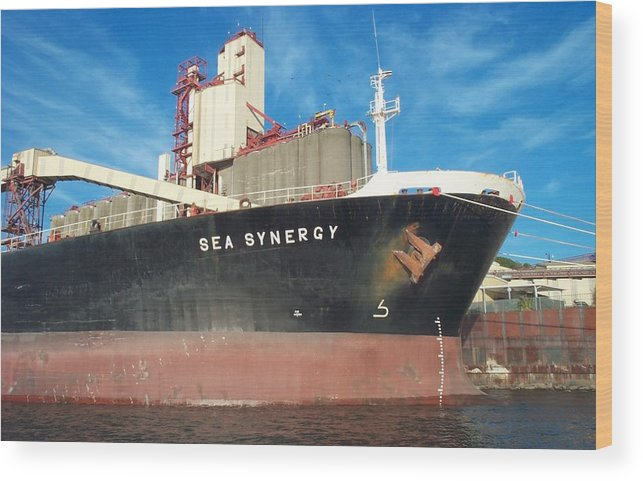 Ship Wood Print featuring the photograph Sea Synergy Hull by Alan Espasandin