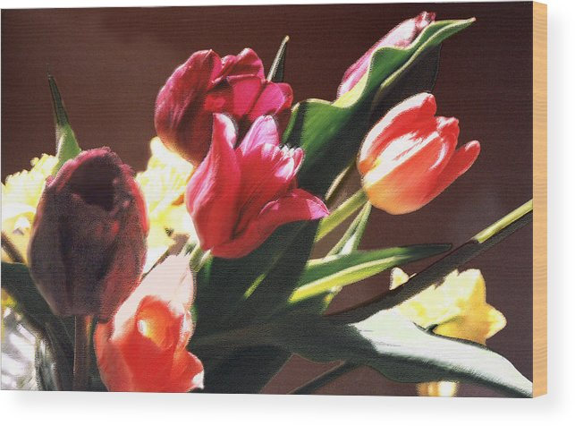 Floral Still Life Wood Print featuring the photograph Spring Bouquet by Steve Karol