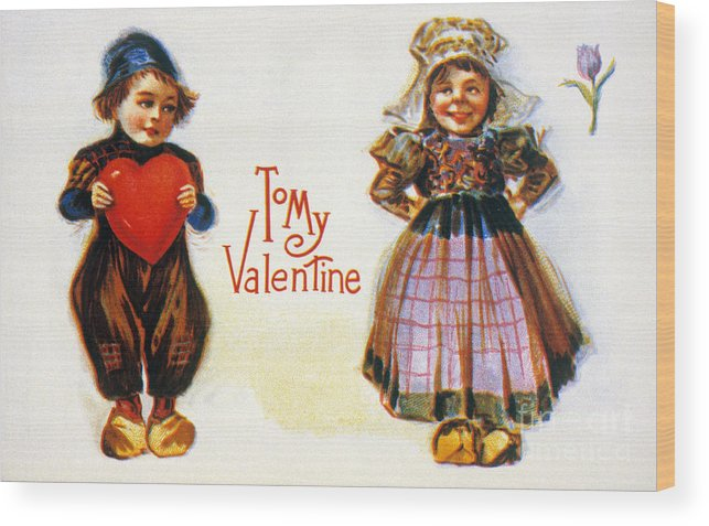 1900 Wood Print featuring the photograph St. Valentines Day Card by Granger