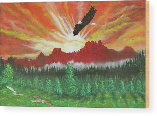 Acrylic Wood Print featuring the painting They That Wait Upon The Lord  Isa 40 31 by Laurie Kidd