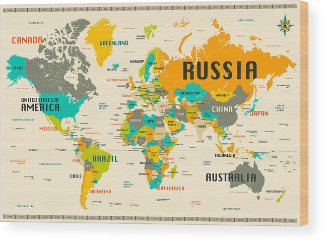 World map wood print by jazzberry blue world map wood print featuring the digital art world map by jazzberry blue gumiabroncs Image collections