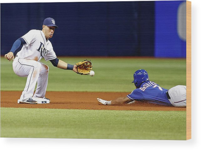 People Wood Print featuring the photograph Delino Deshields by Brian Blanco