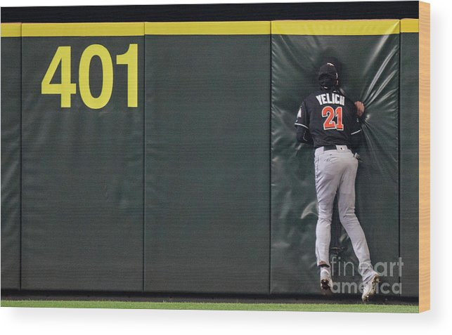 People Wood Print featuring the photograph Jarrod Dyson And Christian Yelich by Stephen Brashear