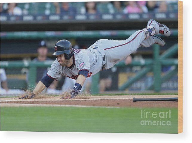 People Wood Print featuring the photograph Jeimer Candelario And Brian Dozier by Duane Burleson