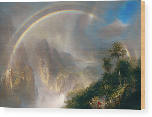 Painting Wood Print featuring the painting Rainy Season In The Tropics by Mountain Dreams