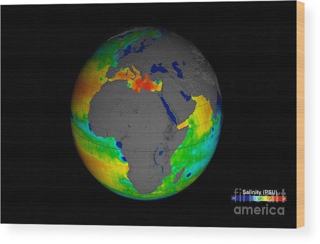 Environment Wood Print featuring the photograph Sea Surface Salinity, Aquarius Image by Nasa