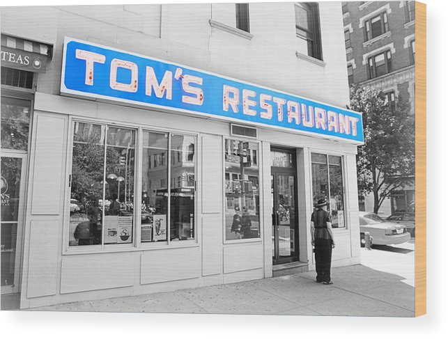 Seinfeld Wood Print featuring the photograph Seinfeld Diner Location by Valentino Visentini