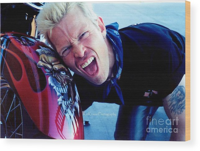 Rock And Roll Artists Wood Print featuring the photograph Billy Idol - Whiplash Smile by Kip Krause