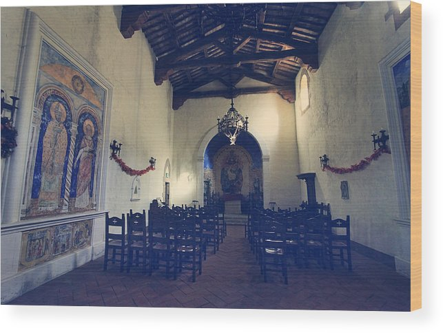 Castello Di Amorosa Wood Print featuring the photograph Worship by Laurie Search