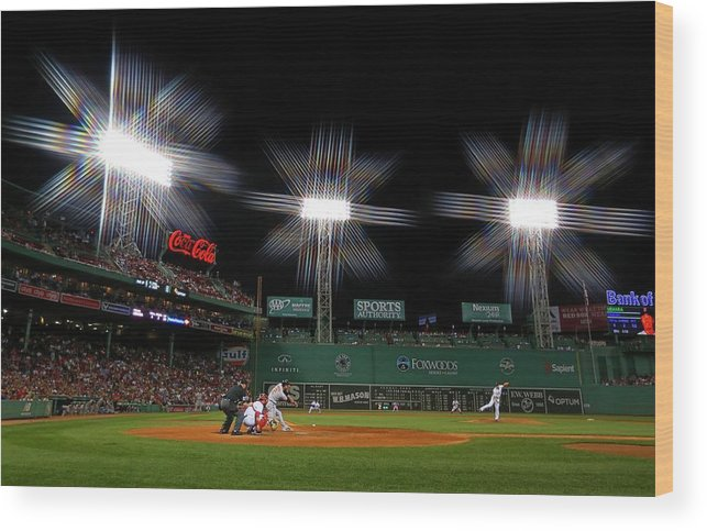 Ninth Inning Wood Print featuring the photograph Baltimore Orioles V Boston Red Sox 2 by Winslow Townson