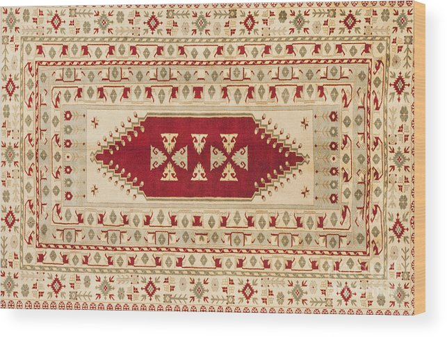 Carpet Wood Print featuring the photograph Turkish Carpet by Emirali KOKAL