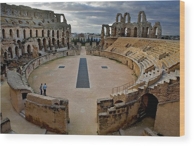 Horizontal Wood Print featuring the photograph Amphitheatre Of El Djem. 238. Tunisia by Everett