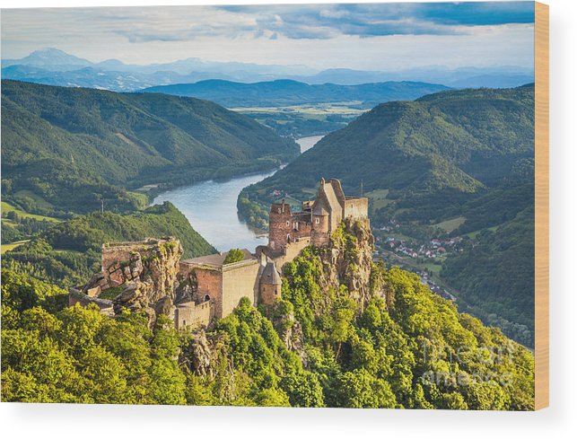 Aggstein Wood Print featuring the photograph Ancient Austria by JR Photography