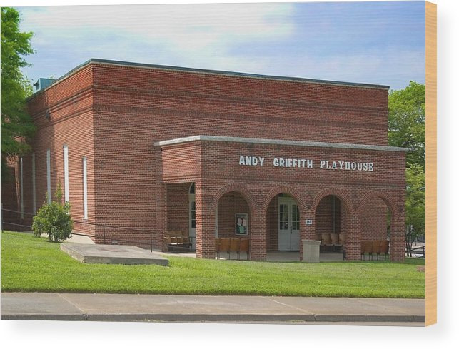 Andy Griffith Playhouse Wood Print featuring the photograph Andy Griffith Playhouse Nc by Bob Pardue