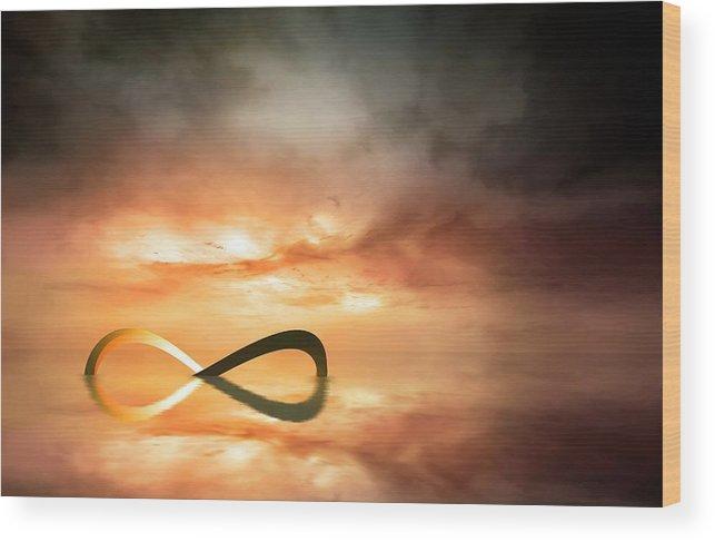 Artwork Of The Infinity Symbol Wood Print By Mark Garlick