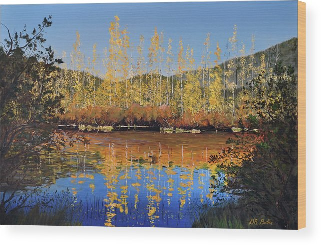 Britton Wood Print featuring the painting Aspen Song by Donald Britton