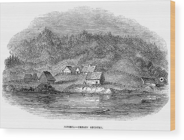 1843 Wood Print featuring the painting Astoria, Oregon by Granger