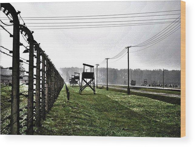 Aushwitz Wood Print featuring the photograph Aushwitz-birkenau by AR Harrington Photography