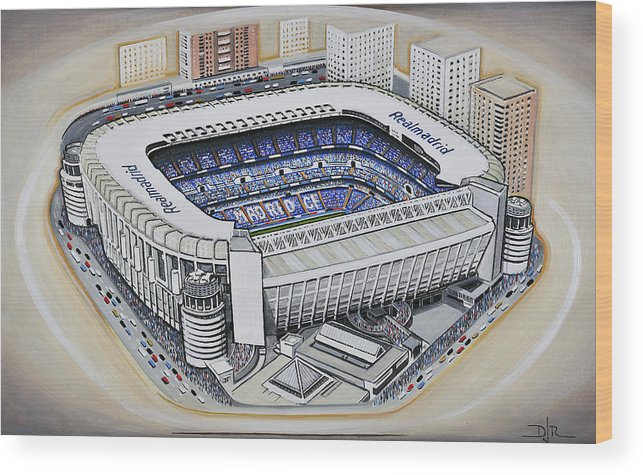 Bernabeu Real Madrid Wood Print By D J Rogers Gorgeous Real Madrid Throw Blanket