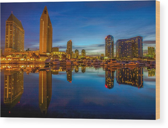 Blue Hour Wood Print featuring the photograph Blue Hour by Robert Aycock