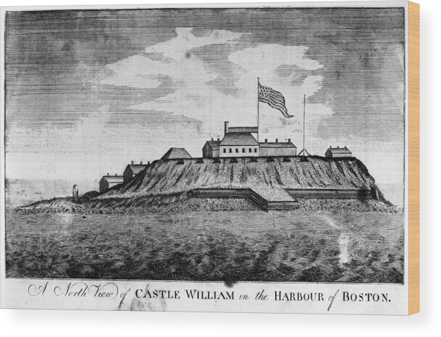 1789 Wood Print featuring the photograph Boston: Castle William by Granger