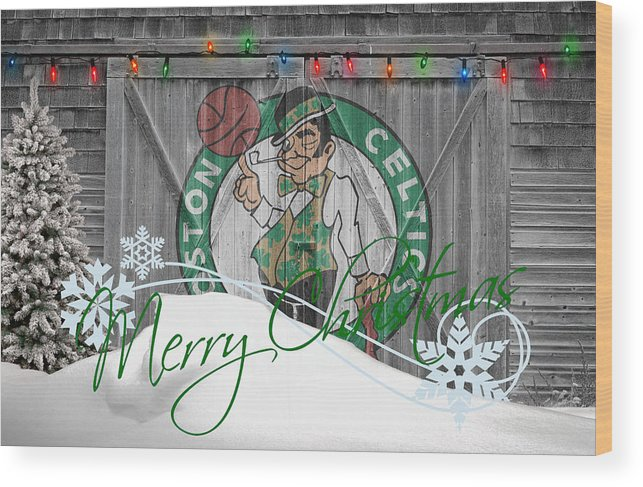 Celtics Wood Print featuring the photograph Boston Celtics by Joe Hamilton