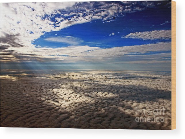 Cloud Formations Wood Print featuring the photograph Ceiling High 3 by Earl Johnson