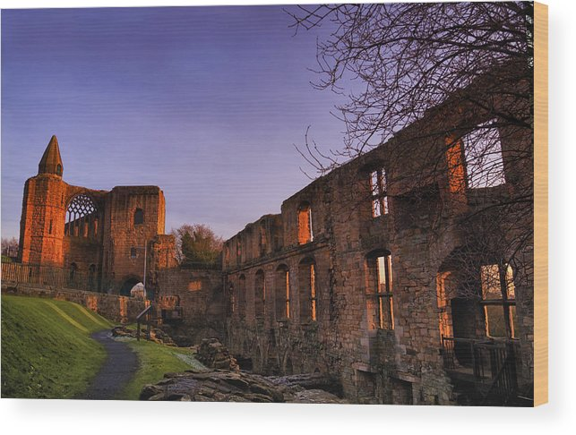 Landscape Wood Print featuring the photograph Dunfermline Palace by Jean-Noel Nicolas