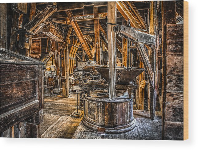 Grist Mill Wood Print featuring the photograph Grains Of Time by Ray Congrove
