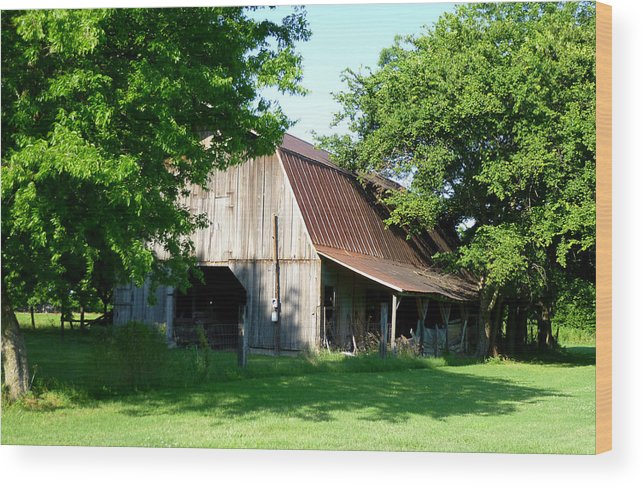 Building Wood Print featuring the photograph Historic Barn by Kay Sparks