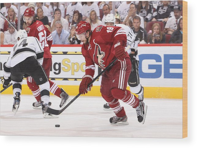 Los Angeles Kings V Phoenix Coyotes Game One Wood Print By