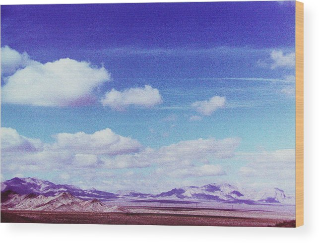 Desert Wood Print featuring the photograph Mohave Desert Shadows by Ari Jacobs
