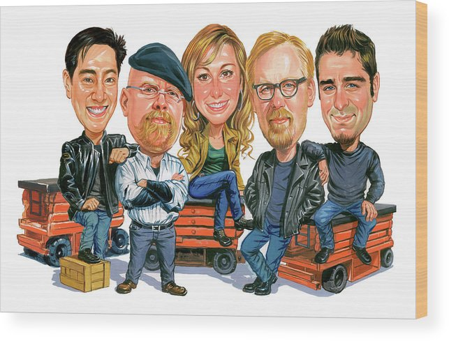 Mythbusters Wood Print featuring the painting Mythbusters by Art