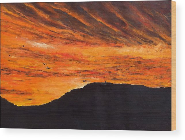 Landscape Wood Print featuring the painting Nekdy Je To Kyc by Pablo de Choros