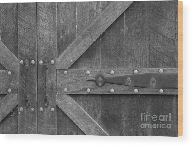Antique Wood Print featuring the photograph Old Barn Door Pt 1 by Cindy Manero