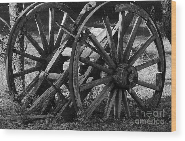 Old Wagon Wood Print featuring the photograph Old Wagon by Diana Black