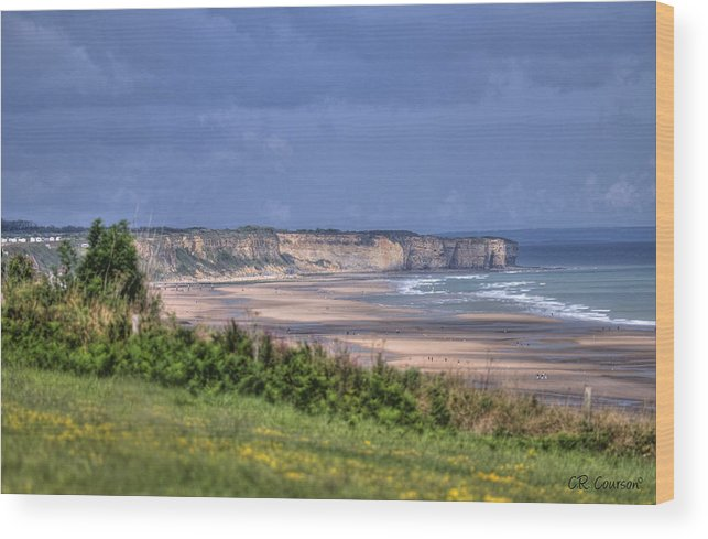Omaha Beach Wood Print featuring the photograph Omaha Beach At Peace by CR Courson