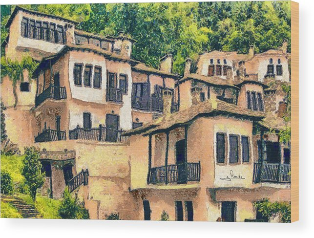 Rossidis Wood Print featuring the painting Pelio 3 by George Rossidis