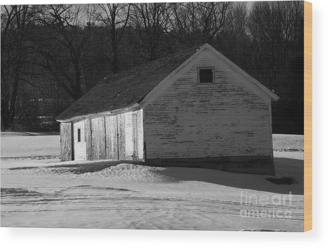 Wicked New England Photography Wood Print featuring the photograph Rustic Shack 2 by Michael Mooney