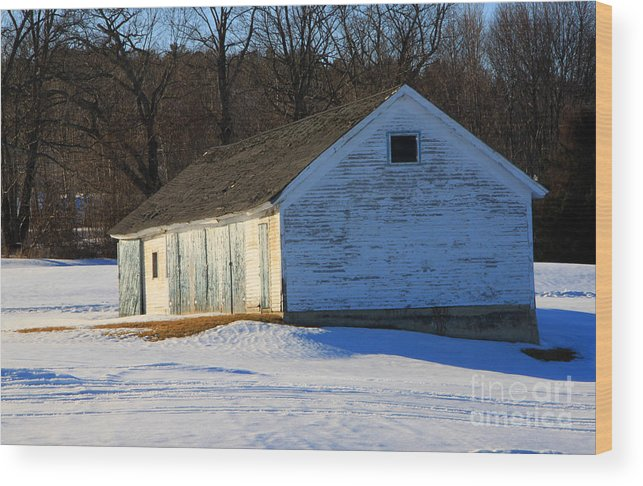 Wicked New England Photography Wood Print featuring the photograph Rustic Shack by Michael Mooney